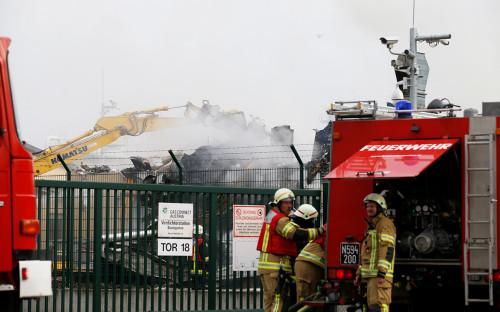 На месте взрыва газораспределительной станции в Австрии. 12 декабря 2017 года