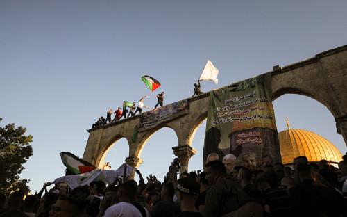 Старый город Иерусалима на фоне боевых действий между Израилем и Газой<br /> &nbsp;
