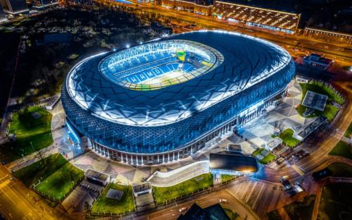 Вид на многофункциональный спортивный комплекс «ВТБ Арена»