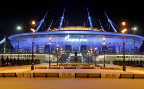"""Фото:""""Газпром-Арена"""" (Фото: EPA/ANATOLY MALTSEV/ТАСС)"""