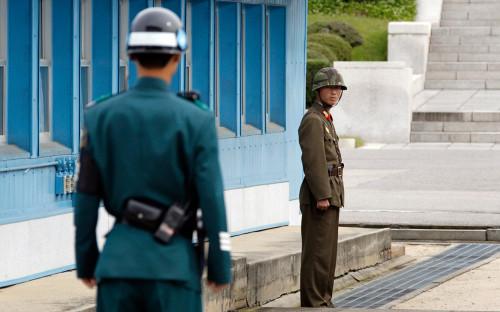 <p>Граница между КНДР и Южной Кореей</p>  <p></p>