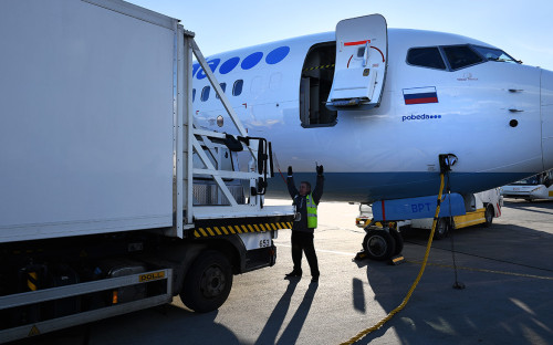 Самолет авиакомпании «Победа» в аэропорту Внуково. 28 марта 2018 года