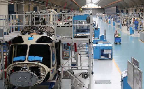 На производстве вертолетов AW169