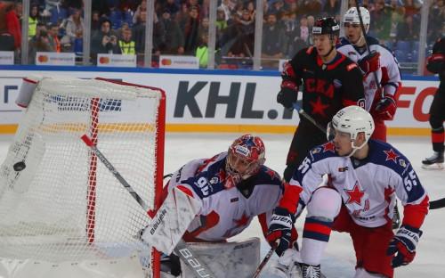 Матч регулярного чемпионата КХЛ с участием СКА и ЦСКА