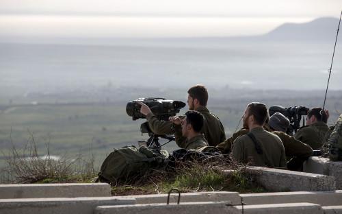 Позиции армии Израиля на границе с Сирией