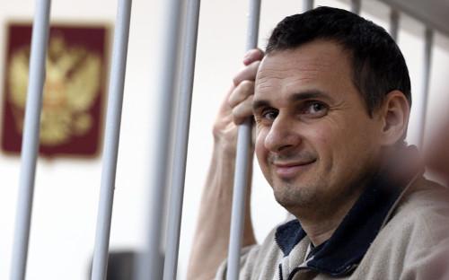 Олег Сенцовв Лефортовском суде в Москве.26 декабря 2014 года
