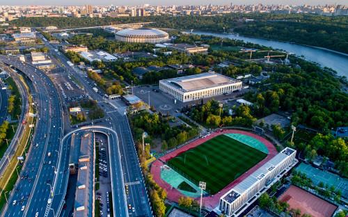 Территория у стадиона «Лужники» в Москве
