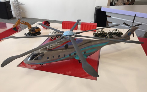 Макет тяжелого вертолета нового поколения AHL (Advanced Heavy Lift)