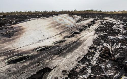 <p>Место крушения малайзийского самолета Boeing 777 в Донецкой области</p>