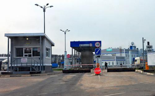 <p>Автомобильный пункт пропуска &quot;Новые Юрковичи&quot; в пограничной зоне с Белоруссией в Брянской области</p>  <p></p>