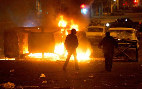 <p>Массовые беспорядки в Ереване 1 марта 2008 года</p>