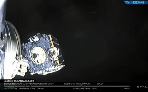Кадр из трансляции компании SpaceX