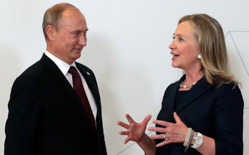 <p>Владимир Путин и&nbsp;Хиллари Клинтон</p>  <p></p>