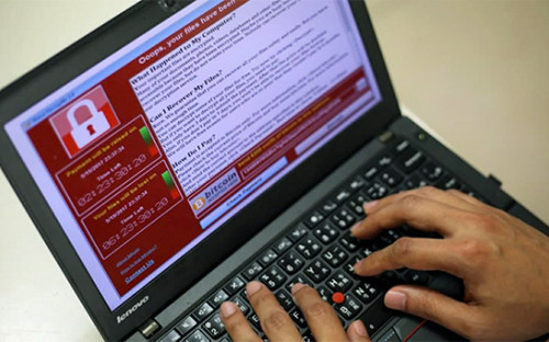 <p>Компьютер, зараженный вирусом WannaCry</p>  <p></p>