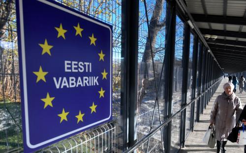 Пункт пропуска на границе России и Эстонии