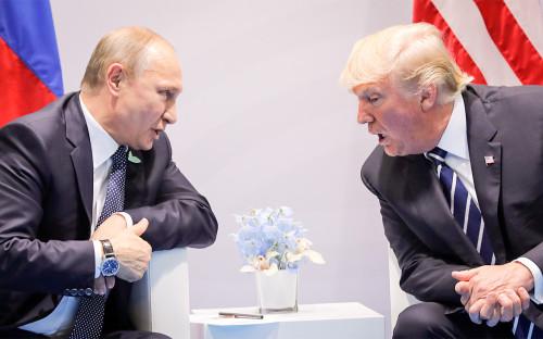Владимир Путин и Дональд Трамп. 7 июля 2017 года