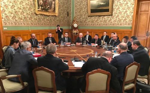 Переговоры российской и турецкой делегации