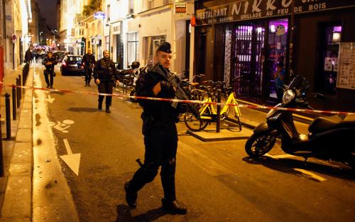 <p>Место происшествия в центре Парижа</p>  <p></p>