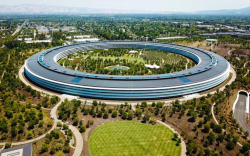 Штаб-квартира компании Apple в Купертино, Калифорния, США