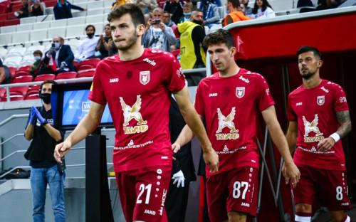 Футболисты «Рубина» выходят на матч