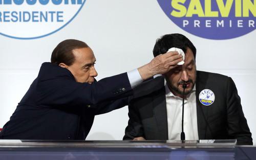 <p>Сильвио Берлускони (слева) и Маттео Сальвини</p>  <p></p>