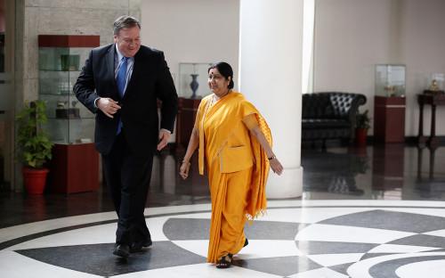 Майк Помпео иминистр иностранных дел ИндииСушма Сварадж