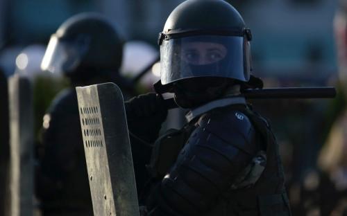 Белорусские силовики во время акции протеста против результатов выборов президента Белоруссии