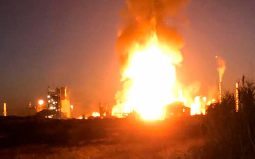 Пожар на территории нефтехимического завода в провинции Таррагона