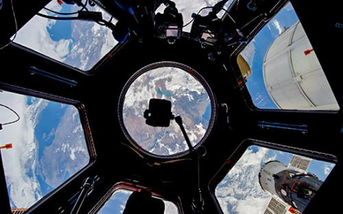 Вид на планету Земля с Международной космической станции
