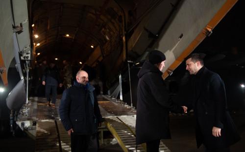 Владимир Зеленский в аэропорту Борисполь