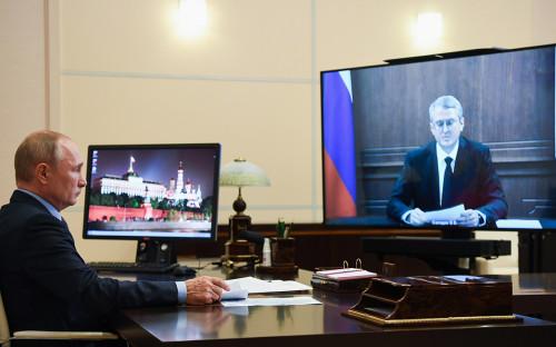Владимир Путин и Владимир Солодов