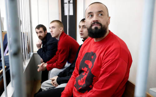 Украинские моряки, задержанные в Керченском проливе