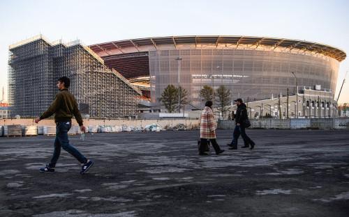 Строящийся к чемпионату мира FIFA-2018 стадион «Екатеринбург Арена»