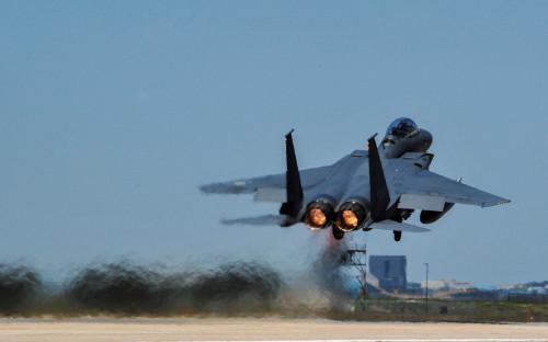 Истребитель ВВС Южной КореиF-15K Slam Eagles
