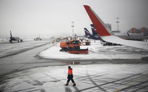 <p>Ситуация на летном поле в аэропорту Шереметьево</p>  <p></p>