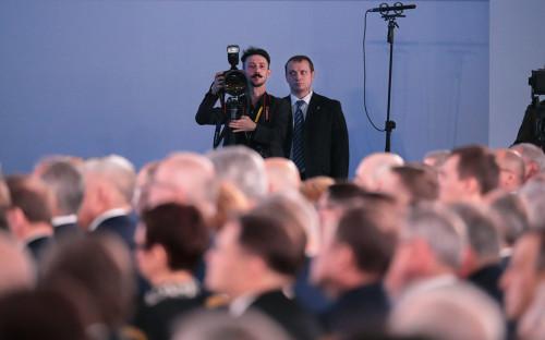 <p>Во время выступления Владимира Путина перед Федеральным собранием</p>  <p></p>