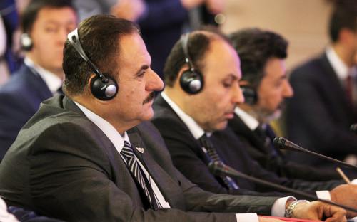 Глава генштаба «Свободной сирийской армии» Ахмад Берри на встрече в Астане