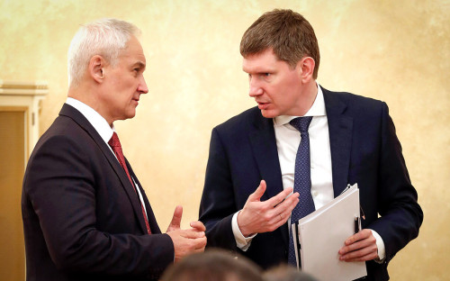 Андрей Белоусов и Максим Решетников (слева направо)