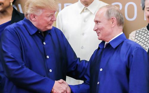 Дональд Трамп и Владимир Путин. 10 ноября 2017 года