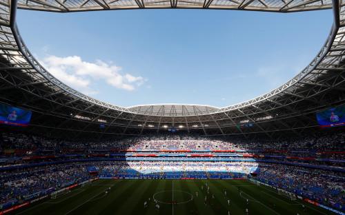 Стадион «Самара Арена» перед матчем ЧМ-2018 Россия — Уругвай. 25 июня 2018 года