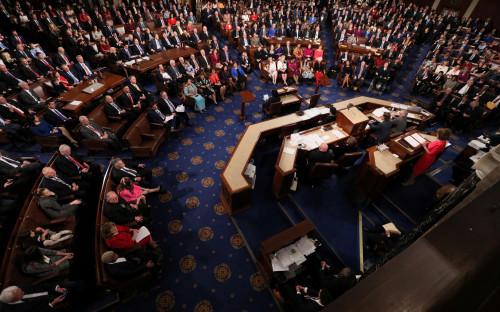 Первое заседание нового состава палаты представителей конгресса, январь 2018 года