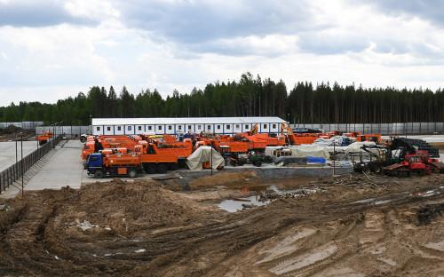 Место строительства экотехнопарка «Шиес»