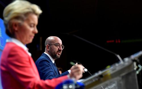 Шарль Мишель на саммите лидеров Европейского союза