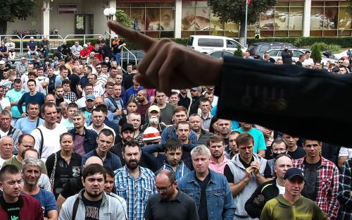 <p>Забастовка работников &laquo;Беларуськалия&raquo;</p>