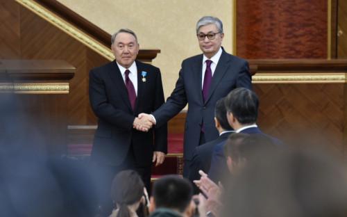 Нурсултан Назарбаев(слева)и Касым-Жомарт Токаев