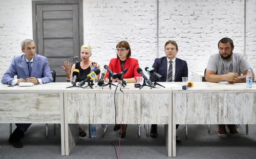 Павел Латушко, Мария Колесникова, Ольга Ковалькова, Максим Знак и Сергей Дылевский