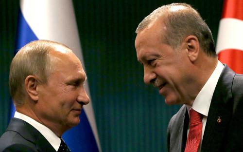 <p>Владимир Путин и Рейджеп Эрдоган</p>  <p></p>