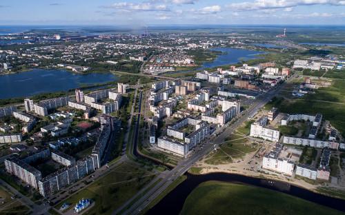 Вид на город Северодвинск