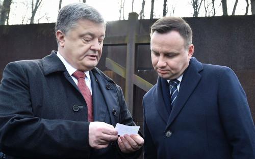 Петр Порошенко иАнджей Дуда (слева направо)