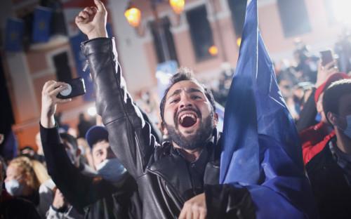 Сторонники партии «Грузинская мечта»